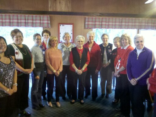 The newly elected officers of the EWGA at their March Meeting.